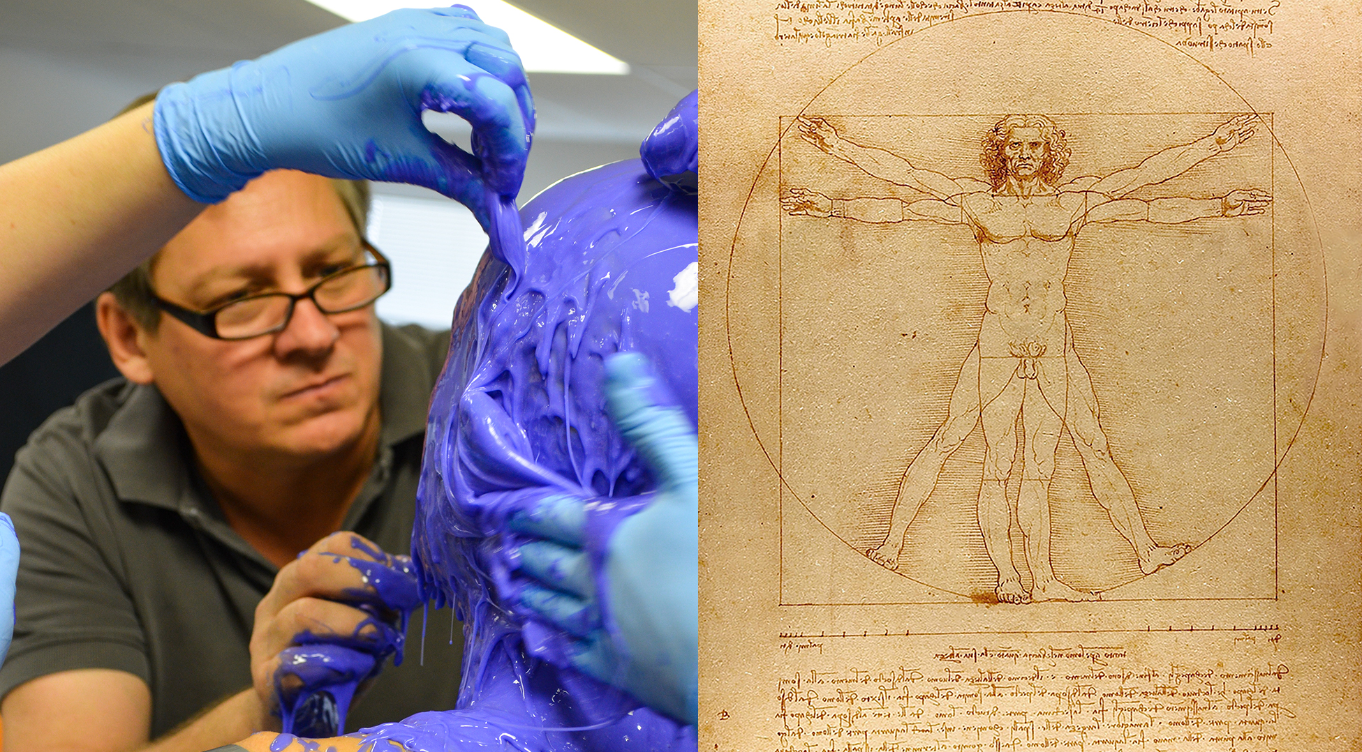 SIMETRI's Barry Anderson juxtaposed with Leonardo Da Vinci's Vitruvian Man