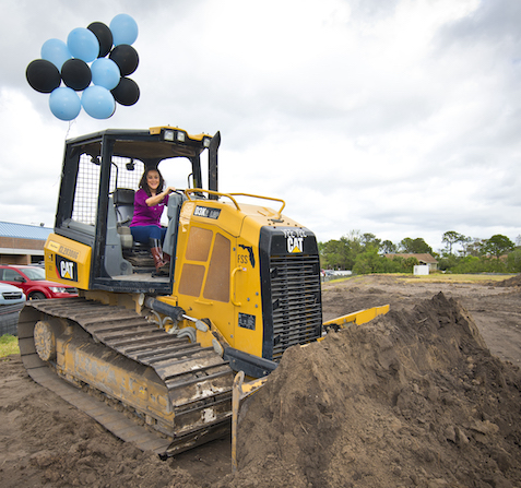 Angela Alban Ready for New Building